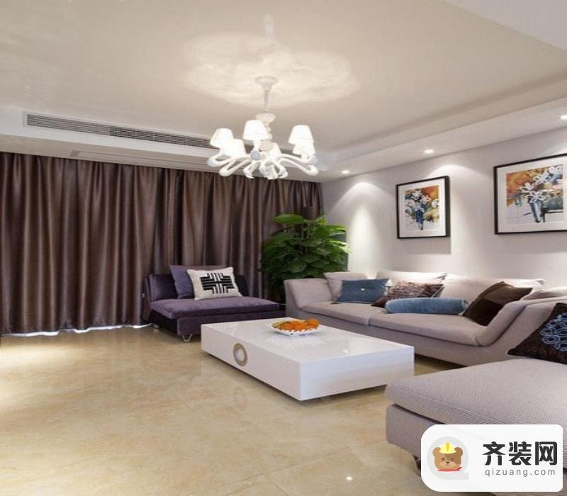 紫御江山-简欧风格-113平米三居室