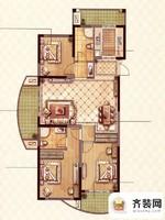 永隆城市广场馨景苑N4户型 3室2厅2卫1厨