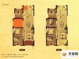 中南御锦城29#30#E3户型 3室2厅2卫1厨