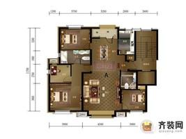 绿地中央墅C区a户型 4室2厅2卫1厨