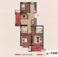 江山名洲·观澜五期188/189幢121平户型 3室2厅2卫1厨