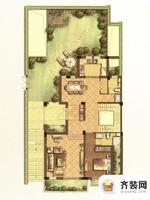 江南府邸尊邸别墅B2户型一层 5室5厅6卫1厨