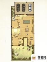 江南府邸尊邸别墅B1户型花园首层 5室4厅4卫1厨