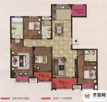 江山名洲·观澜五期183幢168平户型 4室2厅3卫1厨