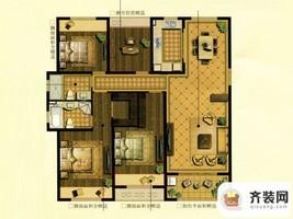 中建·大观天下12#15#世观户型 4室2厅2卫1厨