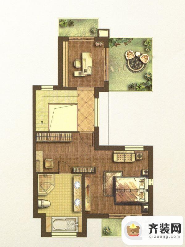 江南府邸尊邸别墅B1户型花园三层 5室4厅4卫1厨