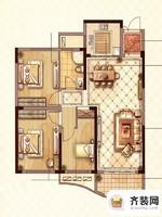 永隆城市广场馨景苑N1户型 3室2厅1卫1厨