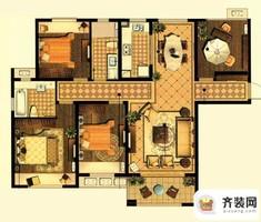 中建·大观天下7#、8#、9#荣观户型 3室2厅2卫1厨