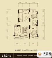 保利百合香湾户型图三期B户型图 3室2厅2卫