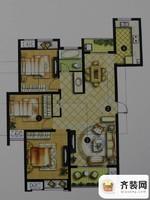 绿地商务城一期5#标准层E1户型 3室2厅1卫1厨
