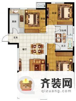 中海凯旋门户型图中户5