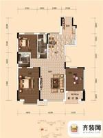 西湖一号二期A户型 3室1厅1卫1厨
