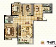 西城逸品第一期第三栋A户型 3室2厅2卫