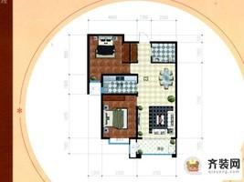 公园时代1#C-3户型 2室1厅1卫1厨