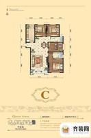 源盛嘉禾高层C户型 4室2厅2卫1厨