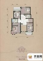 源盛嘉禾叠墅-古典交响户型(地上二层) 7室2厅3卫1厨