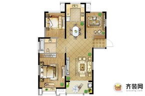 华润橡树湾橡树湾二期4号楼118㎡ 3室2厅1卫1厨