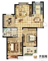西城逸品第一期第四栋A户型 3室2卫1厨