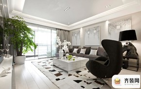 国际社区-现代简约-109.18平米四居室