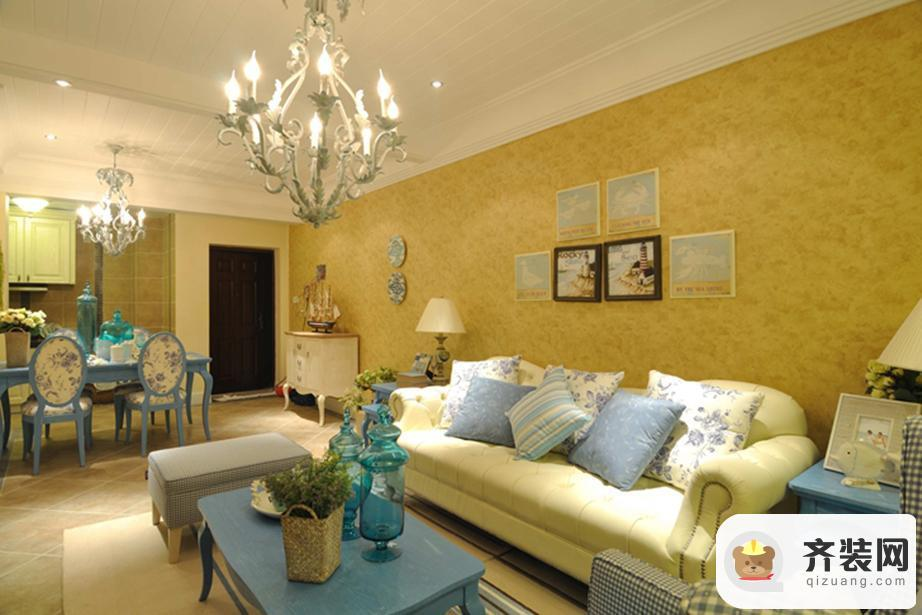 华润中央公园-地中海风格-119平米三居室