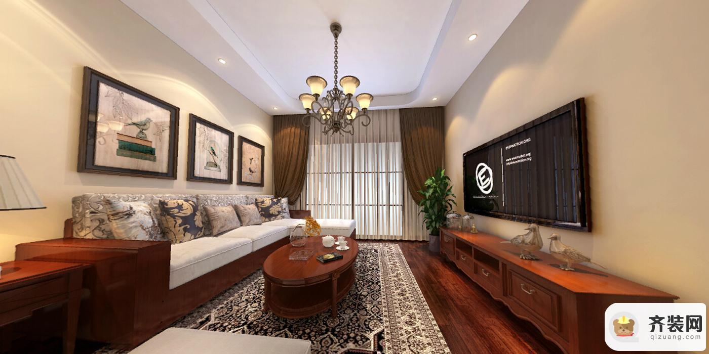保利香雪-中式风格-92平米三居室