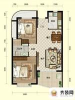 南山六和悦城A1户型 2室2厅1卫1厨