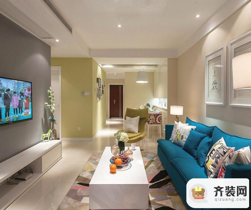紫御江山-现代简约-131平米三居室