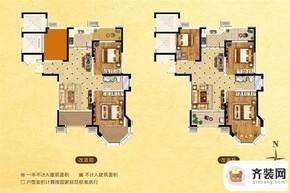 中南御锦城31#边户C户型 3室2厅1卫1厨