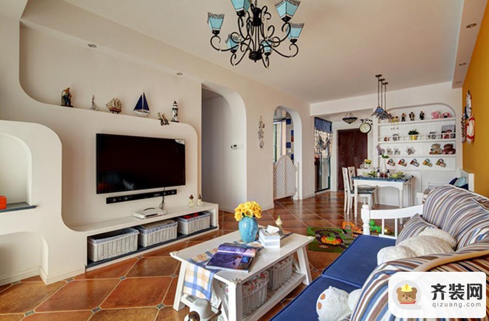 华润中央公园-地中海风格-67平米二居室