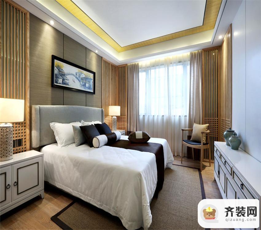 国兴北岸江山-中式风格-138平米四居室