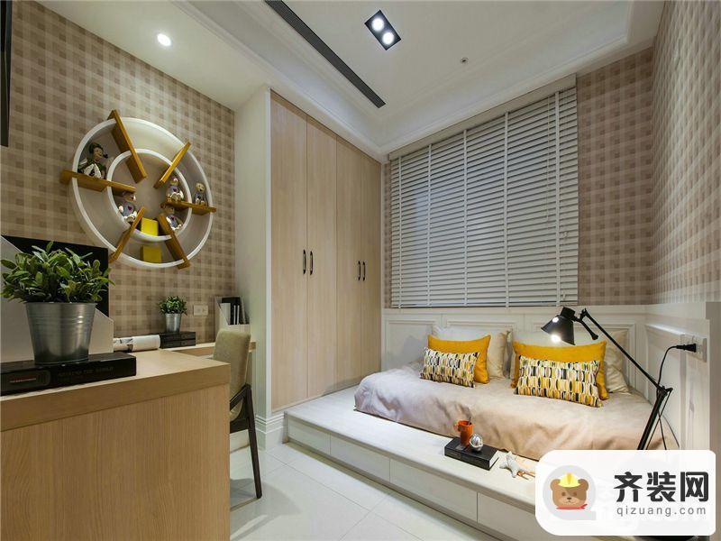 国兴北岸江山-混搭风格-126平米三居室