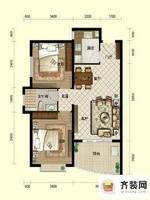 南山六和悦城B1户型 2室2厅1卫1厨