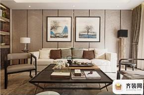 华润中央公园-中式风格-119平米三居室