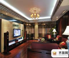 鲁能星城-中式风格-122.87平米四居室