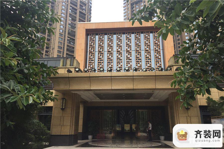 华润中央公园售楼部门口实景(2015-9)