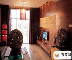 保利香雪-东南亚风格-91平米三居室