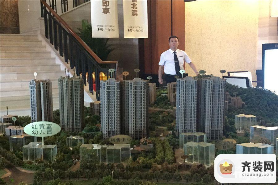 华润中央公园售楼部沙盘实景(2015-9)