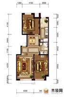 六合一方D户型 2室2厅1卫1厨